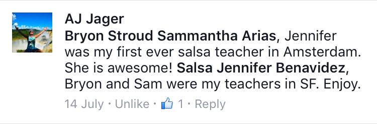 testimonial amsterdam salsa