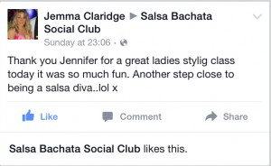 testimonial ladies styling salsa